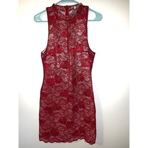 Love, Fire Red lace dress